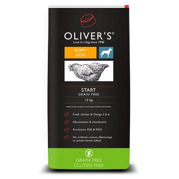 Graanvrije voeding van Oliver's voor puppies, met kip