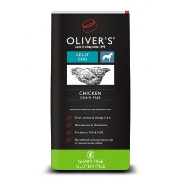 Kleine rassen graanvrije brokjes met kip van Oliver's